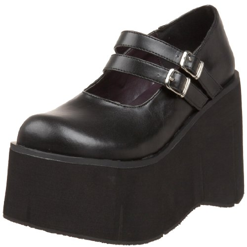 Demonia DEMONIA KERA-08, Damen Pumps, Schwarz (Schwarz), 36 EU Mary Jane Platform Wedge