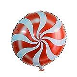 Dragon868 Folie Ballon 5 Stück Folie Runde Candy Lollipop Ballons - Geburtstagsparty Dekoration 18 Zoll (Rot, Folienballons)