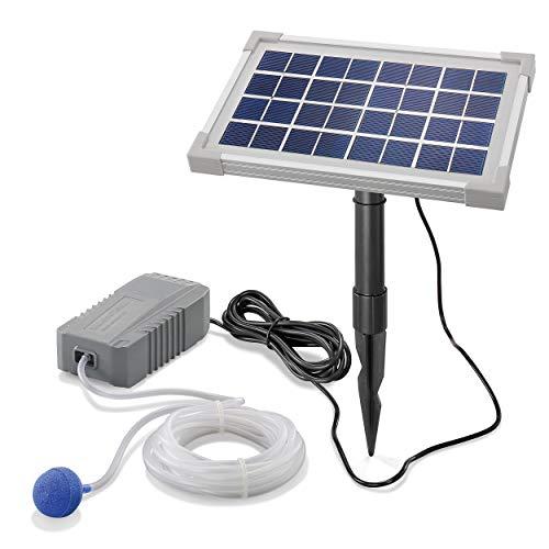 Solar Teichbelüfter Professional - 3,5W Solarmodul 130 l/h Luft - extragroßes Solarmodul für beste Funktion - Gartenteich Belüftung Sauerstoffpumpe Teich Luftpumpe Teichpumpe esotec pro 101841 -
