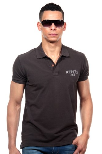 REPLAY Poloshirt regular fit Schwarz