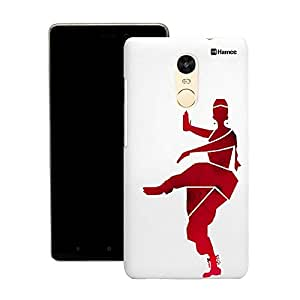 Customizable Hamee Original Designer Cover Thin Fit Crystal Clear Plastic Hard Back Case for Motorola Oneplus 2 / One Plus 2 / Oneplus Two / 1+ 2 (red bharatnatyam dancer)
