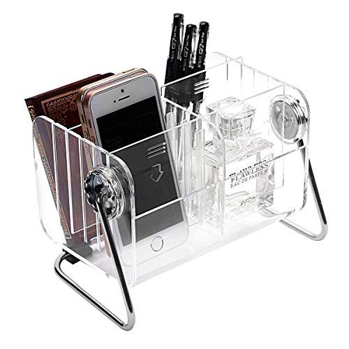 g Halter Organizer,TV Klimaanlage Fernbedienungshalter Aufbewahrungsbox Tischhalter Aufbewahrungs Kasten aus Transparentem Acryl (6-Slot) ()