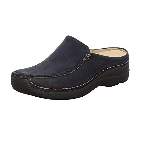 Wolky Comfort Clogs Seamy Slide - 11802 blau geöltes Nubuk - 42 (Comfort-clogs Nubuk)
