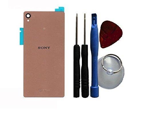 Akkudeckel Backcover Akku Abdeckung für Sony Xperia Z3 D6603, D6653 in kupfer gold + Klebefolie + Werkzeug Set