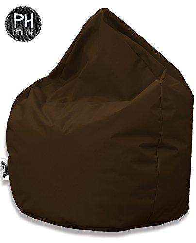 Patchhome Sitzsack Tropfenform Braun für In & Outdoor XL 300 Liter - mit Styropor Füllung in 25 versch. Farben und 3 Größen