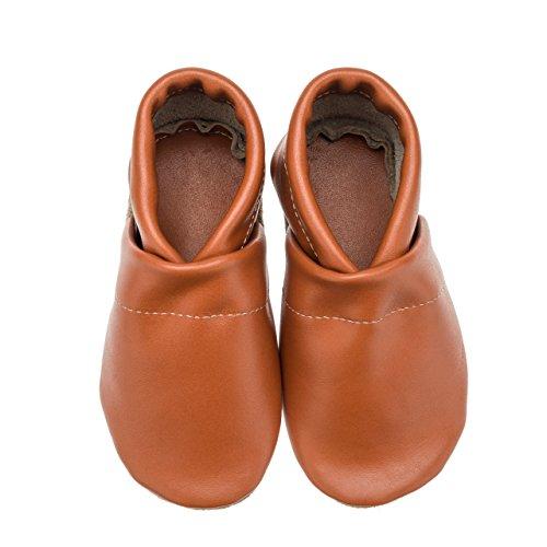 Orange Babyschuhe pantau Krabbelschuhe Lauflernschuhe in Lederpuschen Leder Unifarben eu Tznz8S