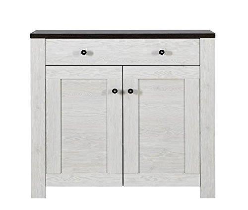 rpen Schuhschrank, Holz, Weiß, (B/H/T) 100 x 100 x 40 cm ()