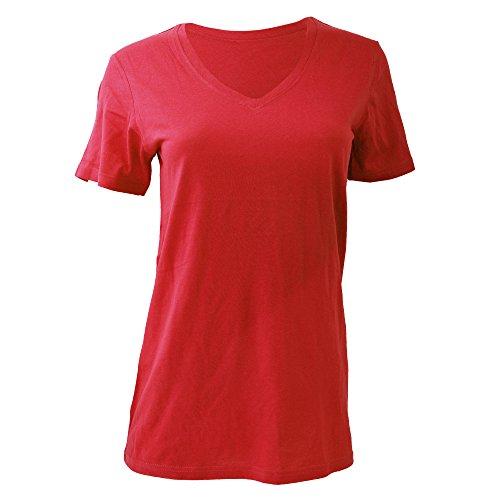 Anvil Camouflage (Anvil Damen T-Shirt mit V-Ausschnitt (Large) (Koralle))