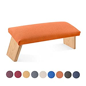 Lotuscrafts Meditationsbank Klappbar Dharma mit Gepolsterter Sitzfläche – Made in Europe – Yoga Hocker aus Holz – Kniesitz Meditationsbank für eine Tiefe Meditation