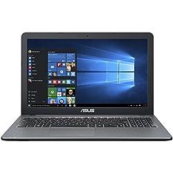 "ASUS VivoBook D540YA-XO540T - Ordenador portátil DE 15,6"" HD (AMD Dual-Core E1-6010 APU, 4 GB RAM, 1 TB HDD, AMD Radeon R2, Windows 10 Original) Plata Degradado - Teclado QWERTY Español"