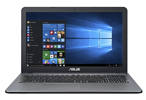 ASUS F540YA-XX078T - Ordenador portátil de 15.6' (AMD Dual-Core E1-7010, 4 GB de RAM, HDD de 500 GB, AMD Radeon R2 Graphics, Windows 10), plata degradado - Teclado QWERTY Español