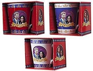 Toyland® Pack von 2-2018 Royal Hochzeit V-Form Becher Set - Harry und Meghan Royal Hochzeit - Royal Hochzeit Memorabilia (Royal Queen Elizabeth)