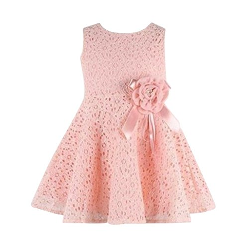 Brightup Party Kleid 0-18 Monate Baby Mädchen Kleider, Pink, 0-6 Monate (18 Monat-mädchen-kleider)