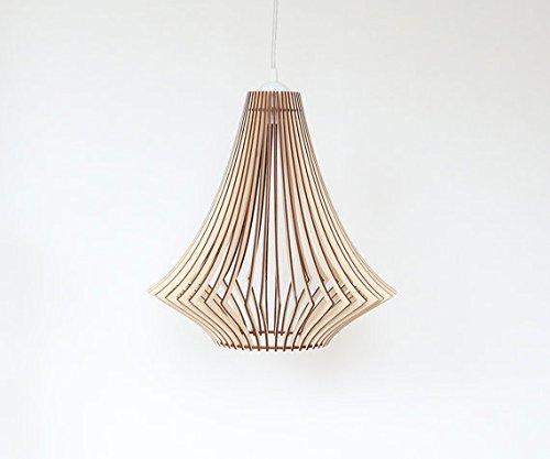 Lampada da soffitto in legno/legno/novità 2016in legno stile classico e moderno lampada da soffitto, taglio laser legno Eko lampada a sospensione, a forma di casa Lightning