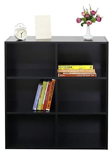 Absolute Deal 3-Tier-Bücherregal Display Ablagen Stauraum, Holz, schwarz, 80 x 30 x 90 cm - Schwarz 3 Regal Bücherregal