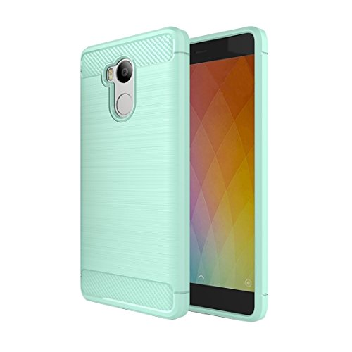 Xiaomi Redmi 4 Prime / Pro Case Gebürstete Textur Carbon Fiber TPU Schutzhülle für Xiaomi Redmi 4 Prime / Pro Case by diebelleu ( Color : Black ) Green