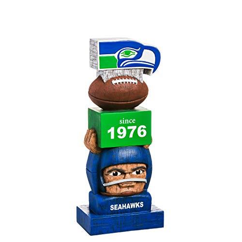 Team Sports America Seattle Seahawks Vintage NFL Tiki Totem Statue -