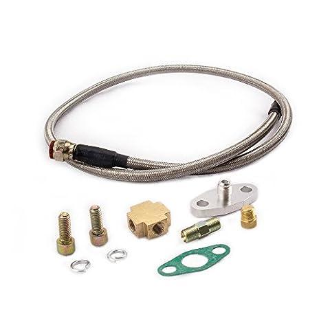 maXpeedingrods Turbocompresseur Universel Turbo Tuyau Huile Ligne Kit pour T3/T4 T7 T04