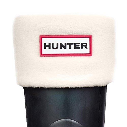 New Hunter Kids' Fleece Welly Socks - Cream - L (Welly Hunter Fleece Socks)