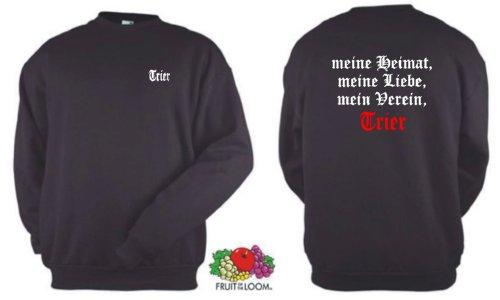 world-of-shirt Herren Sweatshirt Trier Ultras meine Heimat