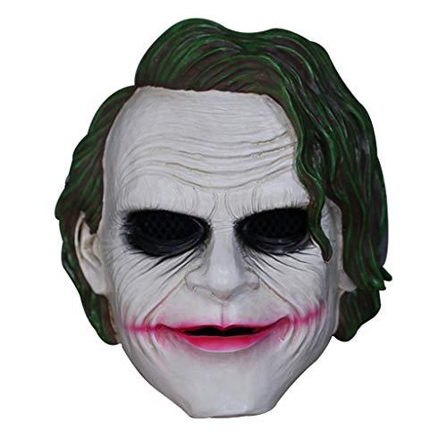 SDKHIN Joker Mask Scary Batman Charakter Horror Maske perfekt für Kostümpartys, Halloween-Kostüme und Cosplay-Events,White-OneSize (Kostüm Replik Batman)
