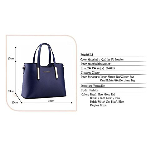 ZUNIYAMAMA, Borsa tote donna blu royal blue Red