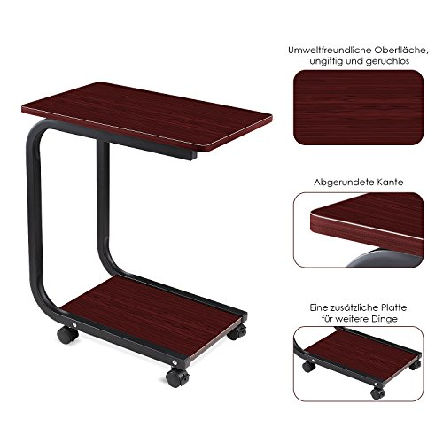 homfa laptoptisch u form notebook tisch pc tisch notebook sofatisch laptopst nder. Black Bedroom Furniture Sets. Home Design Ideas