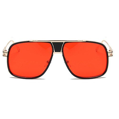Auifor☀Frauen Männer Mode Quadrate Metallrahmen Marken-klassische Sonnenbrille