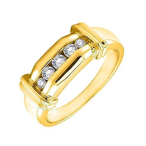 Diamond Delight 18 carats Or jaune Forme ronde G-H Diamant blanc