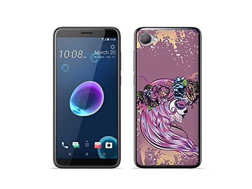 etuo HTC Desire 12 - Hülle Fantastic Case - Blumenmädchen - Handyhülle Schutzhülle Etui Case Cover Tasche für Handy (Blumenmädchen 12)