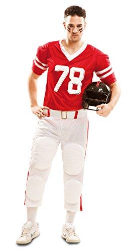 Partychimp 83-02135 - Costume da giocatore di rugby da Uomo, M/L, Rosso