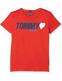 Tommy Hilfiger Girl's Ame Tommy Heart Tee S/S T-Shirt