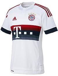 adidas FCB A JSY Y - Camiseta para Hombre, Color Blanco/Rojo/Azul