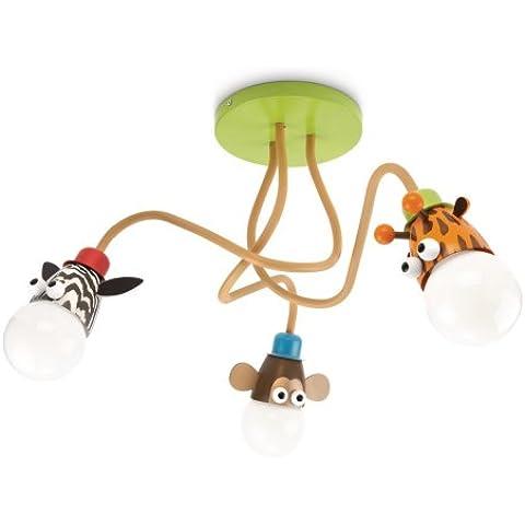 Philips Zoo Lampada da Soffitto Bambino, Zebra/Scimmia/Giraffa, Lampadina Risparmio Energetico Inlclusa - Giraffe Scimmia
