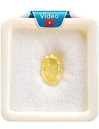 Pinkcity Gems Yellow Sapphire Ceylon Mined 7.25 Ratti/6.52 Carat Certified Pukhraj Natural Gemstone for Men and Women