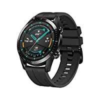 Huawei LTN-B19-BK GT 2 Smart Watch with Fluoroelastomer - Black (Pack of 1)