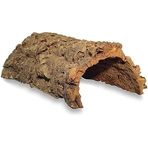 Korktunnel | Korkhöhle (Halbbogen) unten offen, 30 cm, Innenhöhe ca. 9 cm | Naturkorkrinde als Unterschlupf für Nagetiere, Reptilien, Vögel 100% Korkrinde, natürlicher, nachwachsender Rohstoff