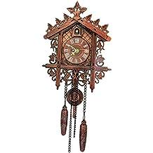 Homyl Reloj de Pared Silencioso Reloj de Cuco, Estilo Vintage de Madera Colgante Decoración Sala