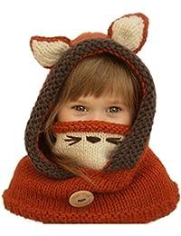 MIAOMIAOWANG Niños Lindos Orejas de Animales de diseño Sombreros de Punto  Suave Súper Mantener Cálidos Bebés Niños Niños pequeños Uso… 32fdf1e0f69