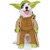 Star Wars - Disfraz Yoda Dlx para mascota, M (Rubie's Spain 887893-M)