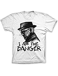 Officiellement Marchandises Sous Licence Breaking Bad I Am The Danger T-Shirt (Blanc)