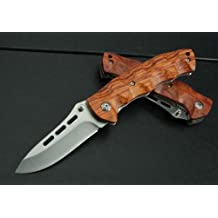 J.C.H. KT35 Rosewood Wooden Handle Couteau Poche Pliant Outil Messer Folding Knife