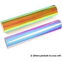 1b51f4d8e3 BIEE Vinilo holográfico Vinilo artesanal de vinilo (hojas de 2  colores paquete)