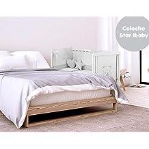 Cuna Colecho Star Ibaby. Multiples posiciones de Somier para adaptarla a cualquier cama + Colchón