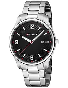 WENGER Unisex-Armbanduhr Analog Quarz Edelstahl 01.1441.110