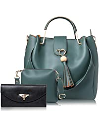 WOMEN MARKS GREEN HAND BAG (COMBO)
