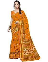 Aarti Apparels Women's Designer Cotton Saree_Yellow_CRYSTAL-6218