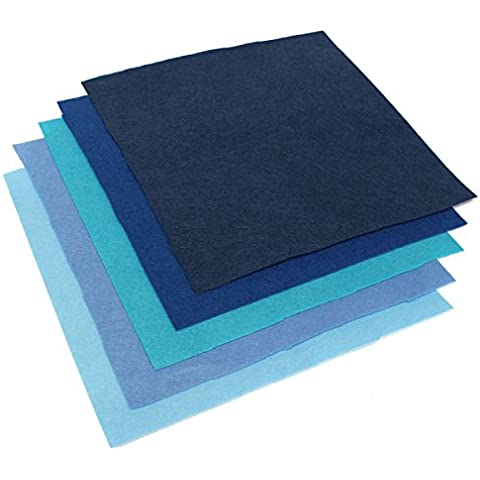 Ology(R)- 30x30cm quadrati di Tessuto Non Tessuto fogli di feltro per DIY Artigianato Artistico Album di ritagli - Tessuto Fogli Cotone