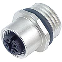 Binder 09-3432-77-04 Sensor-/Aktor-EinbausteckverM12 Buchse, Gerade Polzahl: 4 1St.