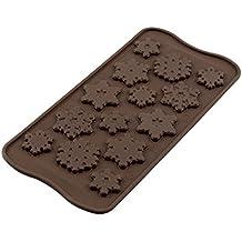 SCG040 Choco Frozen, Molde de Silicona para chocolatines con Forma de Copos de Nieve